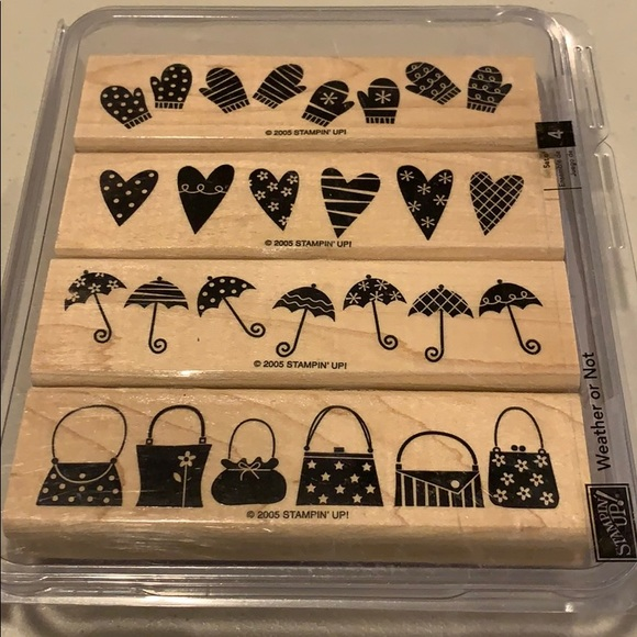 🍀3/$25 - Stampin Up! Hostess only Weather or Not